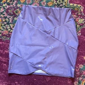 NWT Missguided Lilac Pleather Skirt!